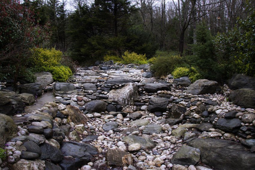 Creating a Dry Streambed