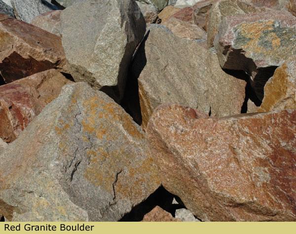 Red Granite Boulder : Boulders boulder placement